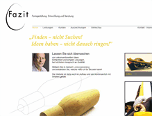 Tablet Preview of fazitgmbh.de